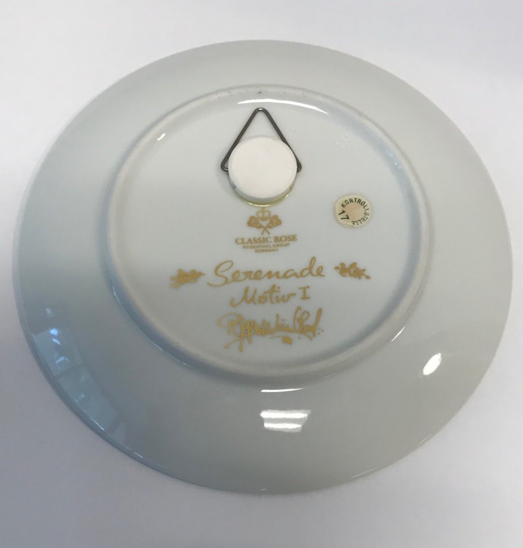 """Rosenthal stamped """"Classic Rose"""" serenade motiw Signed - 3"""
