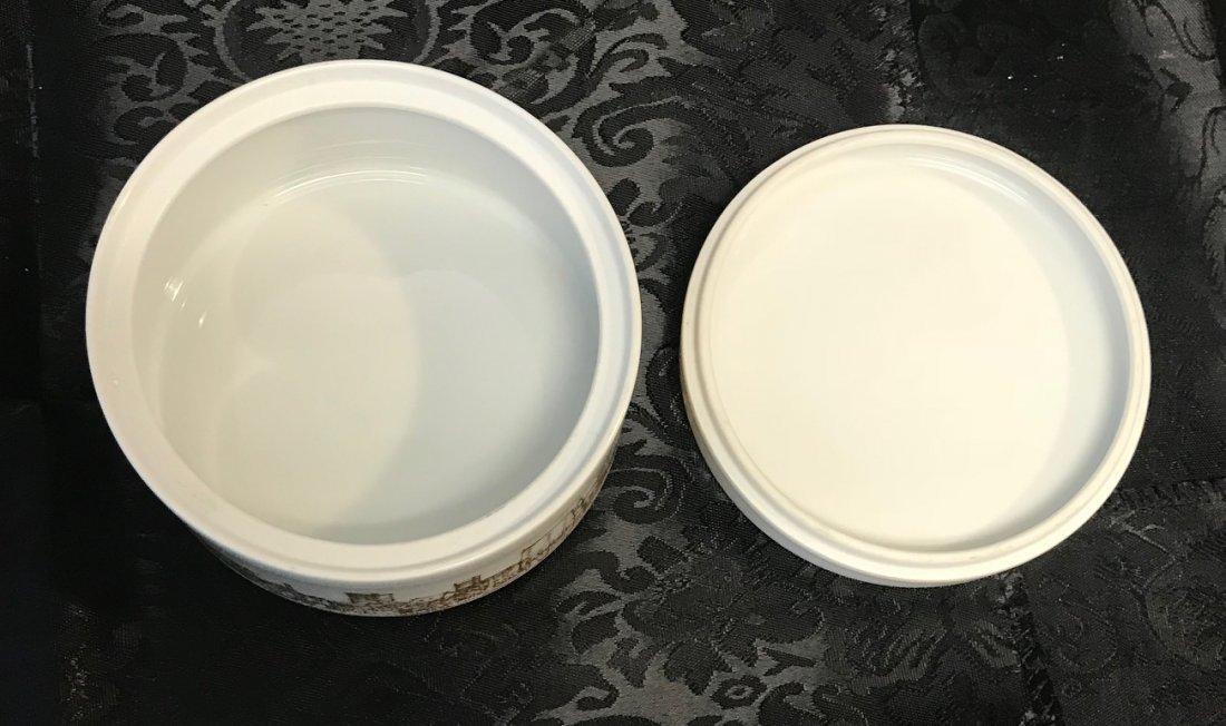 Hutschenreuther Degussa 1873-1973 White Gilt Dish - 3