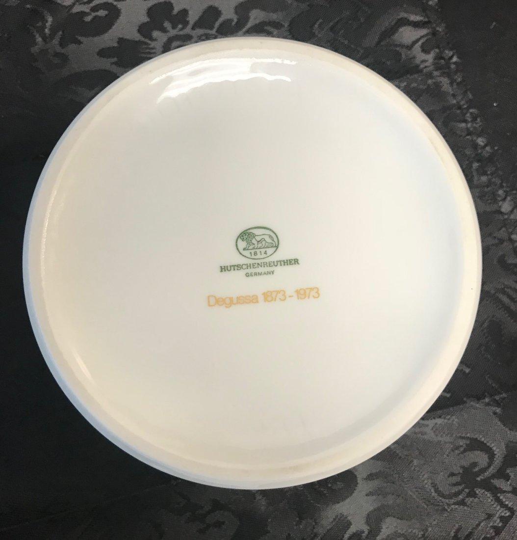 Hutschenreuther Degussa 1873-1973 White Gilt Dish - 5