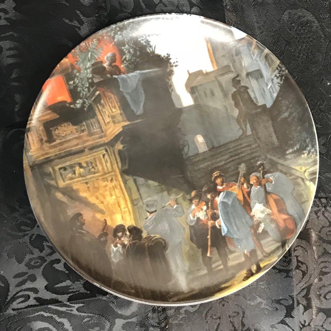Bavarian Luisenberg Serenade decorated plate by Carl