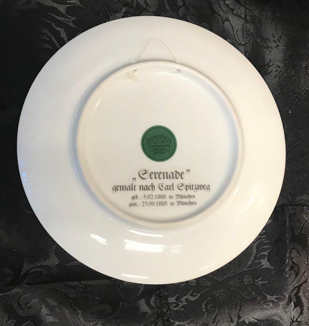 Bavarian Luisenberg Serenade decorated plate by Carl - 2