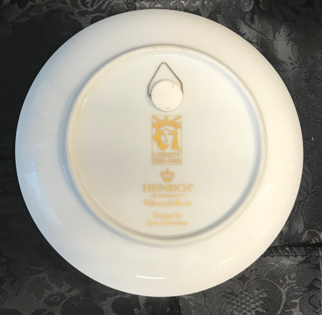 Heinrich Villeroy & Boch Liberty 1886-1986 plate design - 2