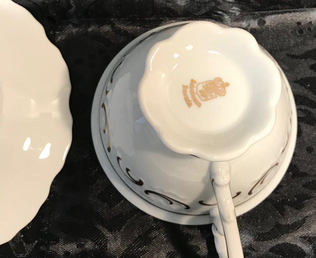 Schumann Bavaria red flora cup, saucer & plate - 6