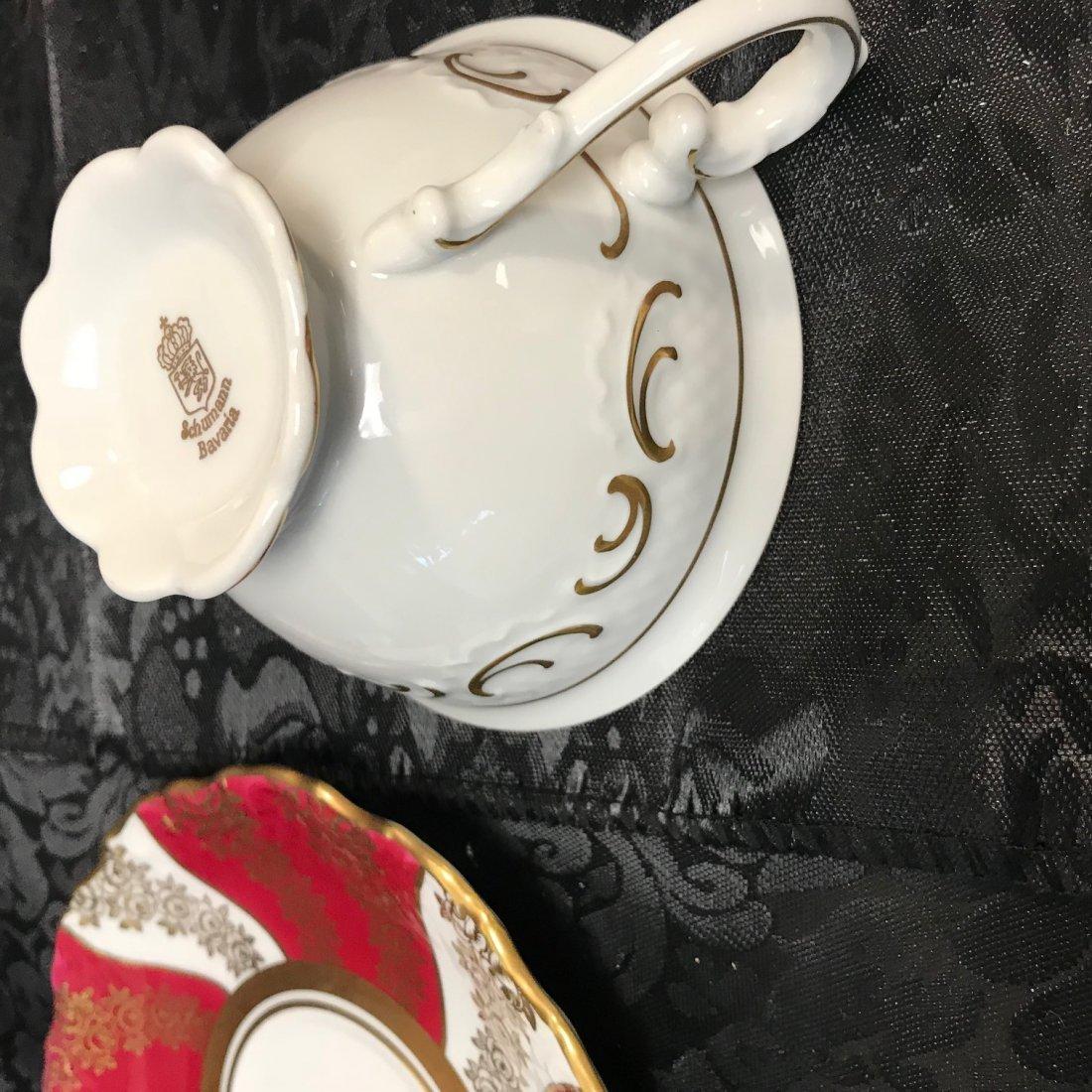 Schumann Bavaria red flora cup, saucer & plate - 7