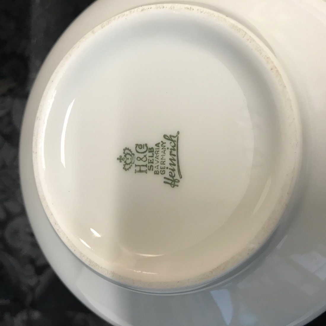 "H&G Selb stamped ""Heinrich"" sugar dish numbered 1789 - 4"