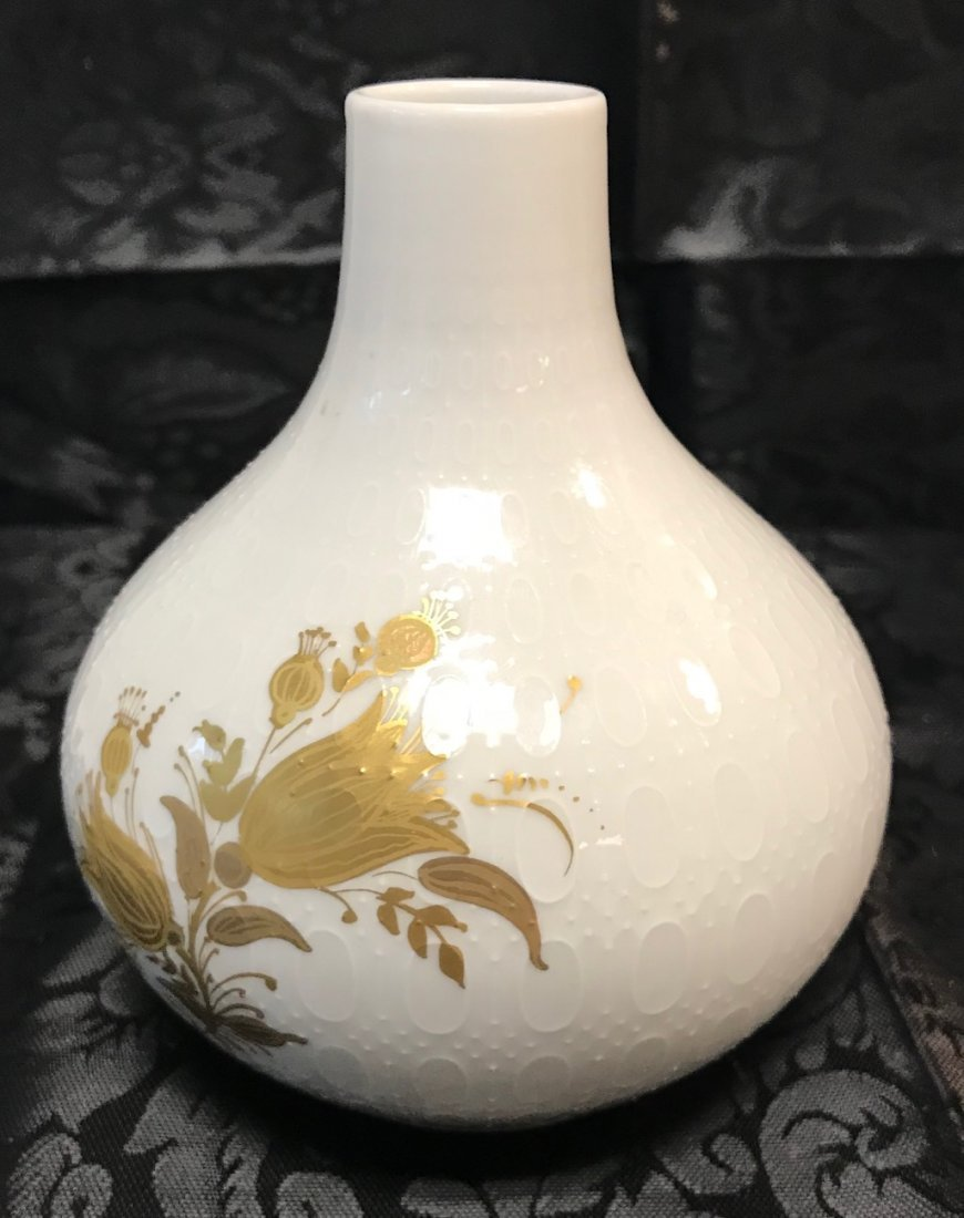 "Rosenthal stamped ""Studio-Linie"" gold style floral vase - 2"