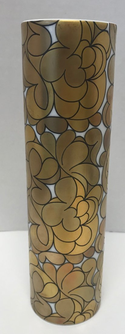 "Rosenthal Stamped ""Studio-Linie"" gold style floral vase"
