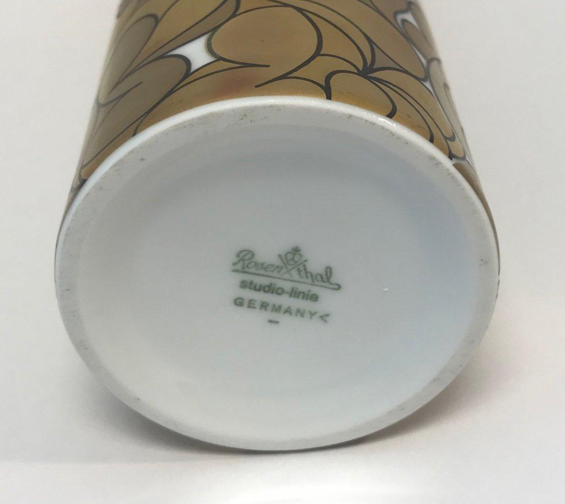 "Rosenthal Stamped ""Studio-Linie"" gold style floral vase - 3"