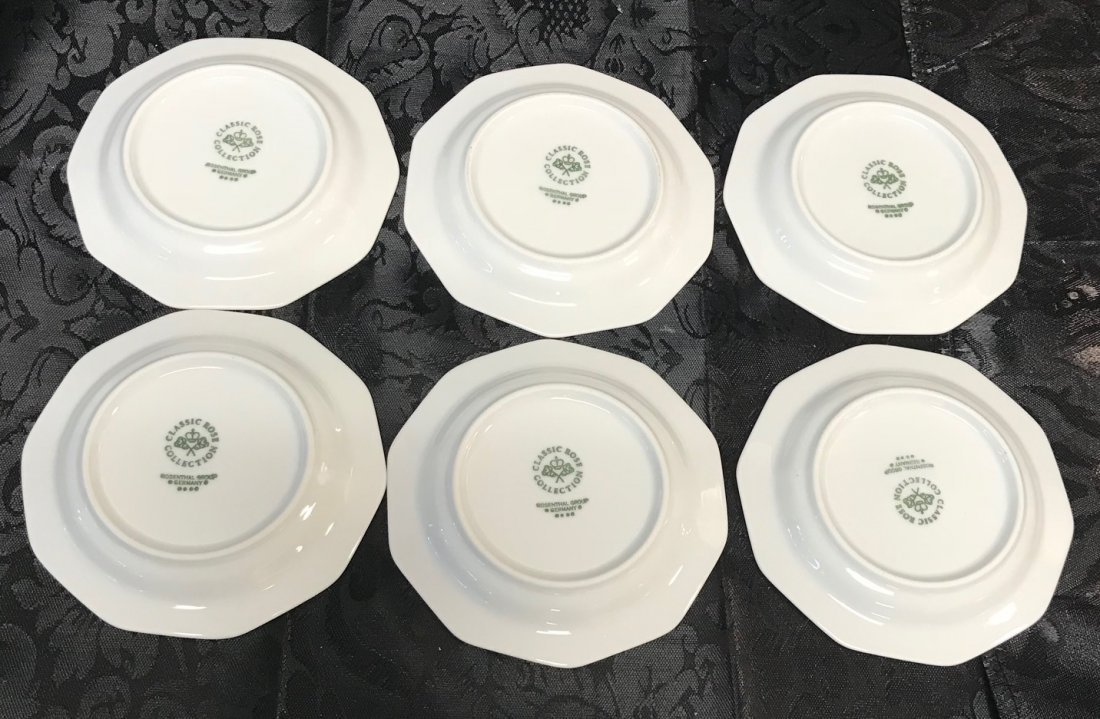 """Rosenthal """"Classic Rose Collection"""" Saucers - 2"""
