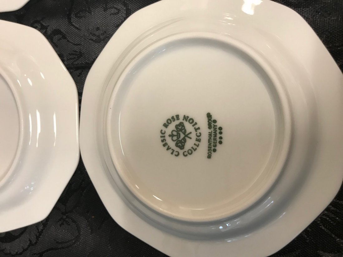 """Rosenthal """"Classic Rose Collection"""" Saucers - 4"""