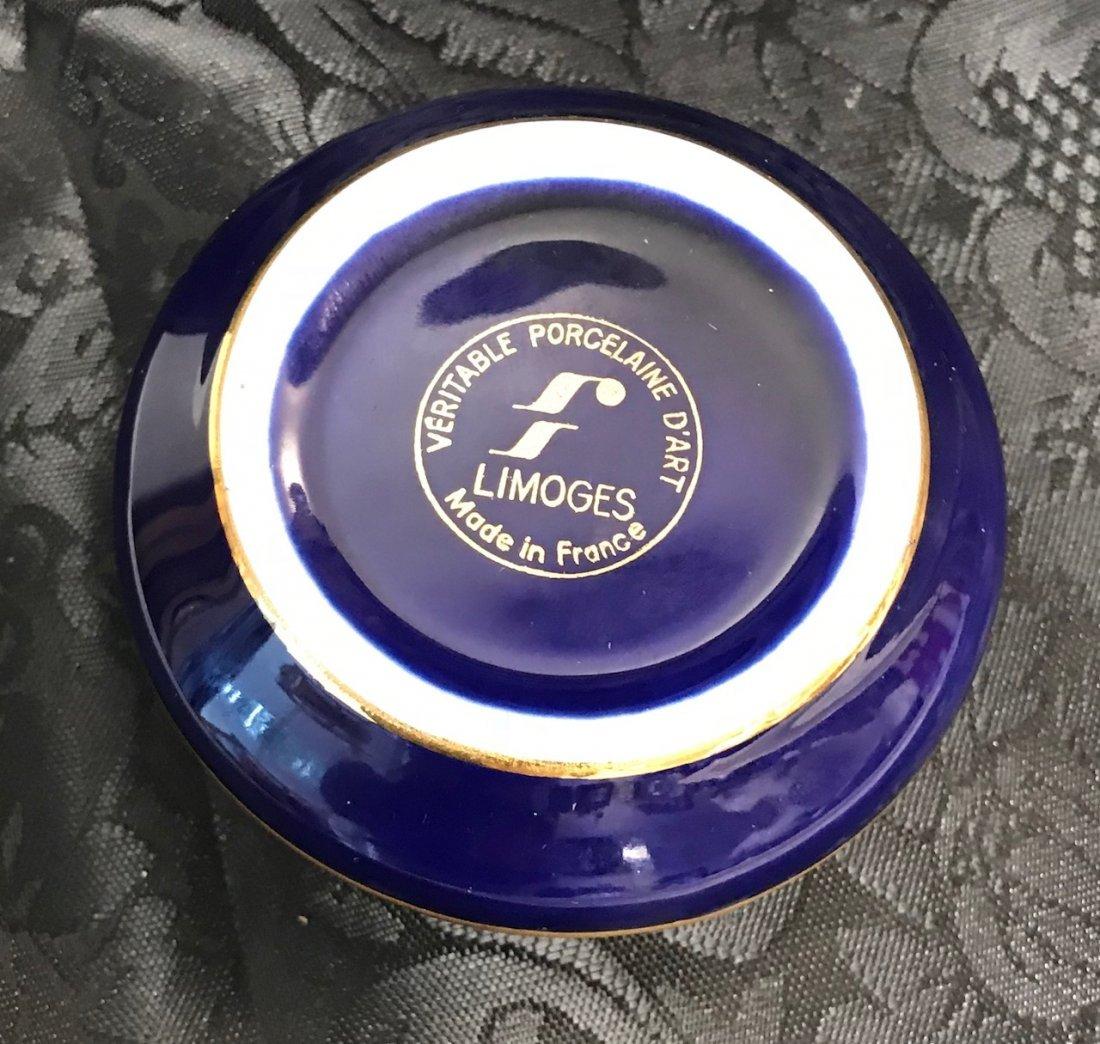 France Limoges cobalt blue trinket box men Woman - 3
