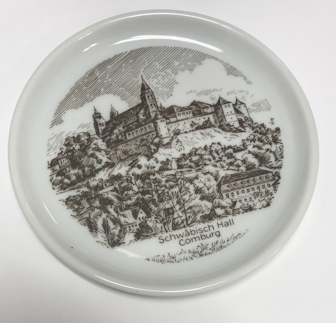 Vintage German Stamped Schwabisch Hall Comburg Plate