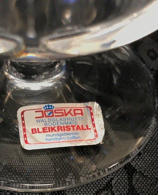 Joska Bleikristall lead crystal 5 Cognac sniffs - 2