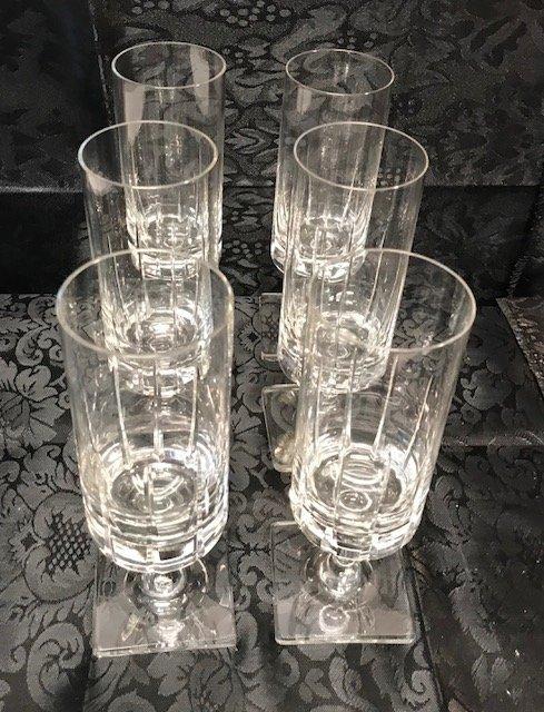 6 BLEIKRISTALL  lead crystal drinking glasses