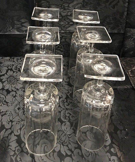 6 BLEIKRISTALL  lead crystal drinking glasses - 4