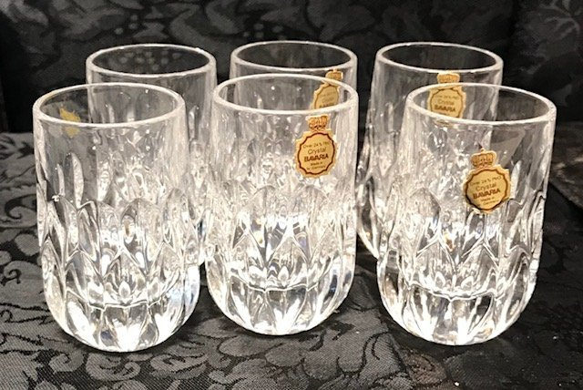 6 BLEIKRRISTAL  Bavarian lead crystal shot