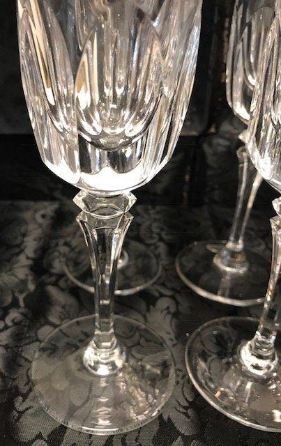 8 German Spiegelau lead crystal Champagne flute glasses - 3