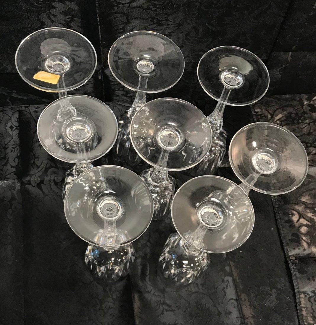 8 German Spiegelau lead crystal Champagne flute glasses - 5