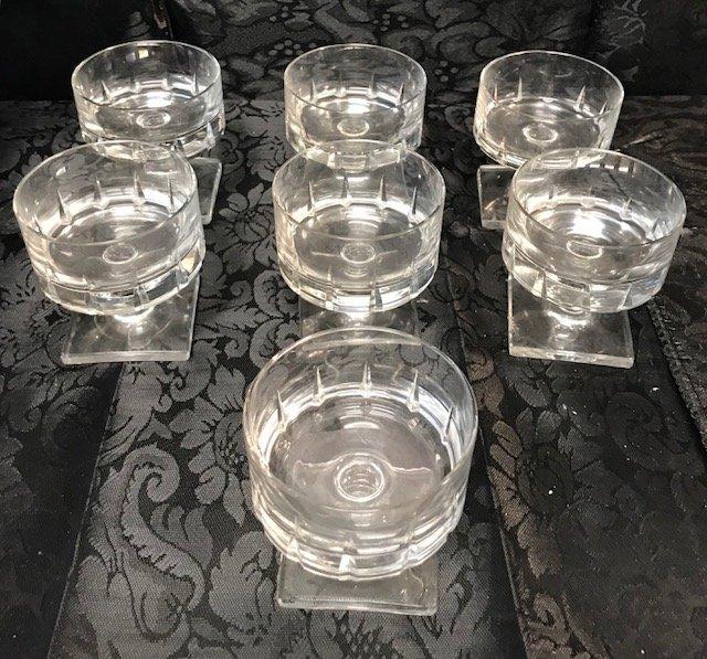 7 BLEIKRISTALL crystal Dessert parfait Glasses