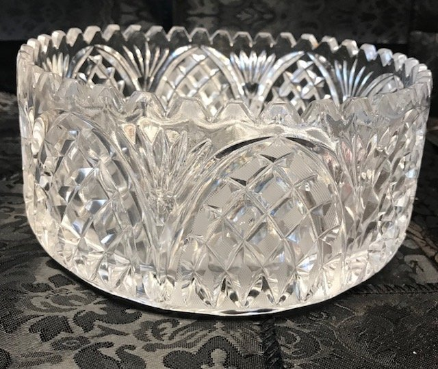 American Brillant Style large German crystal Bowl