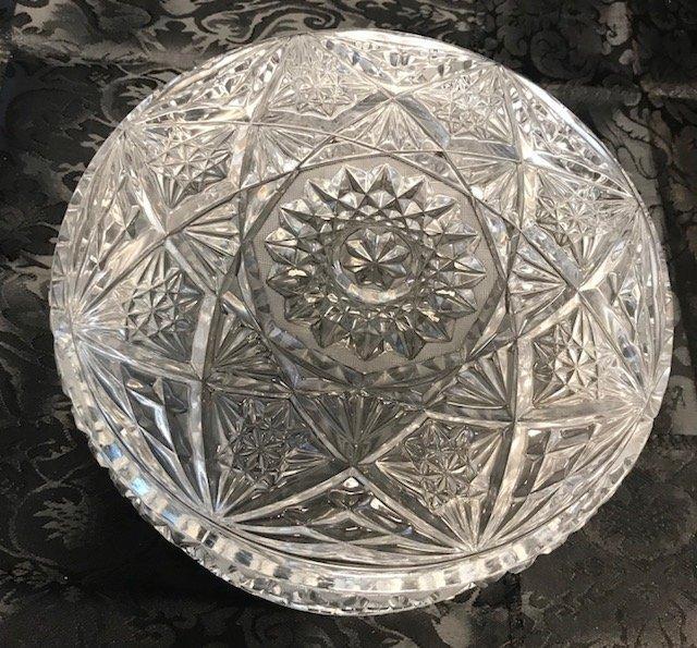 American Brillant Style large German crystal Bowl - 5
