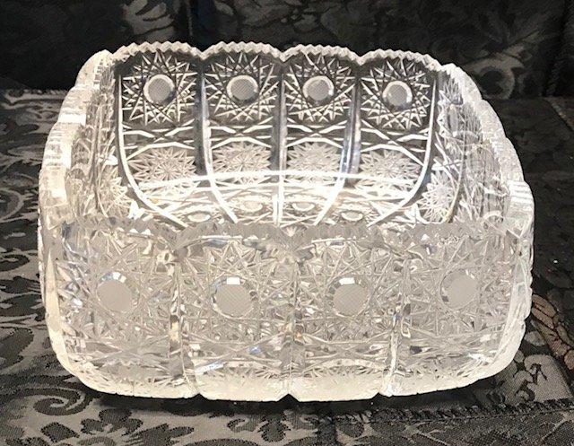 American Brillant Style German  crystal dish - 2