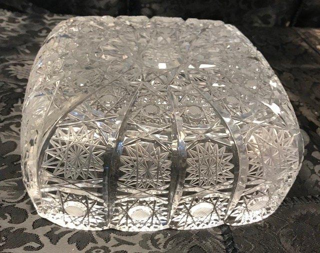American Brillant Style German  crystal dish - 4