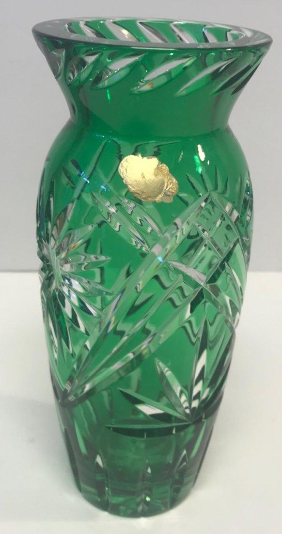 BLEIKRISTALL German lead crystal green