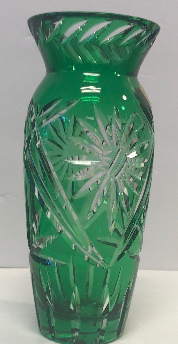 BLEIKRISTALL German lead crystal green - 2