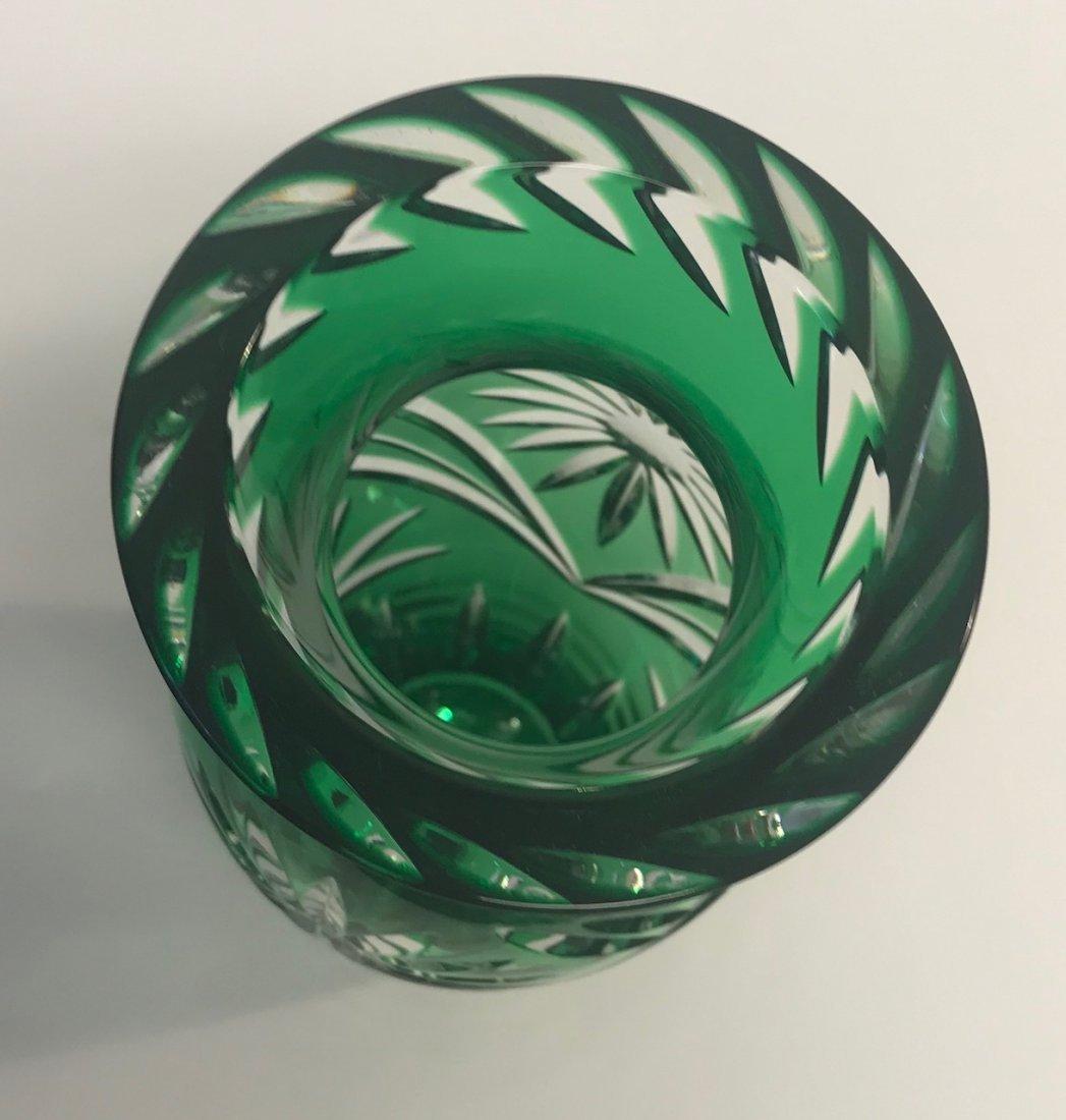 BLEIKRISTALL German lead crystal green - 3