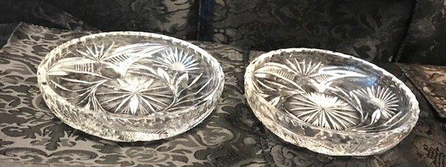 2 German Round lead crystal candy Dish - 2