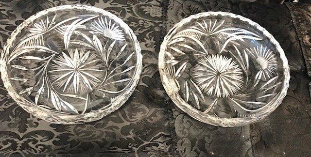 2 German Round lead crystal candy Dish - 3