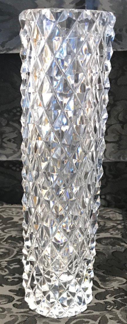 BAVARIA German lead crystal floral vase