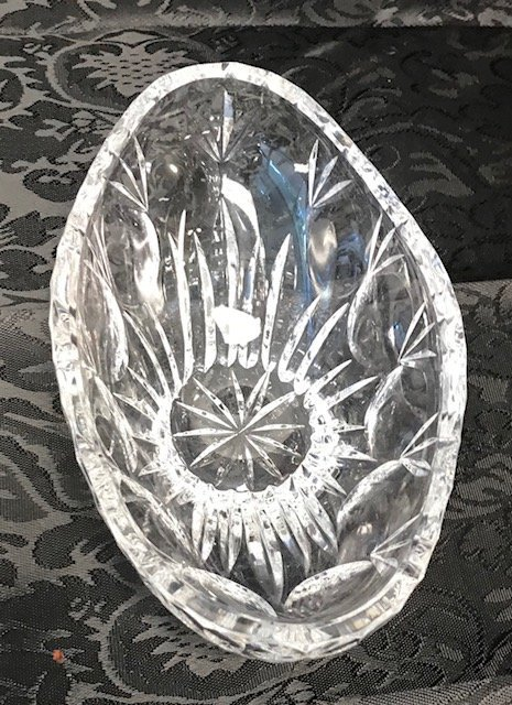 BAVARIA  German Lead crystal Oval Bowl