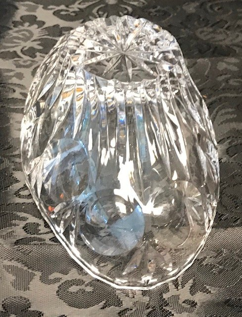 BAVARIA  German Lead crystal Oval Bowl - 3