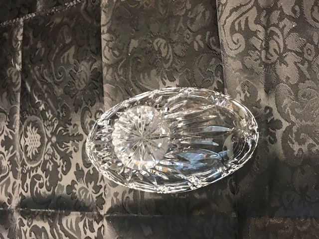BAVARIA  German Lead crystal Oval Bowl - 4