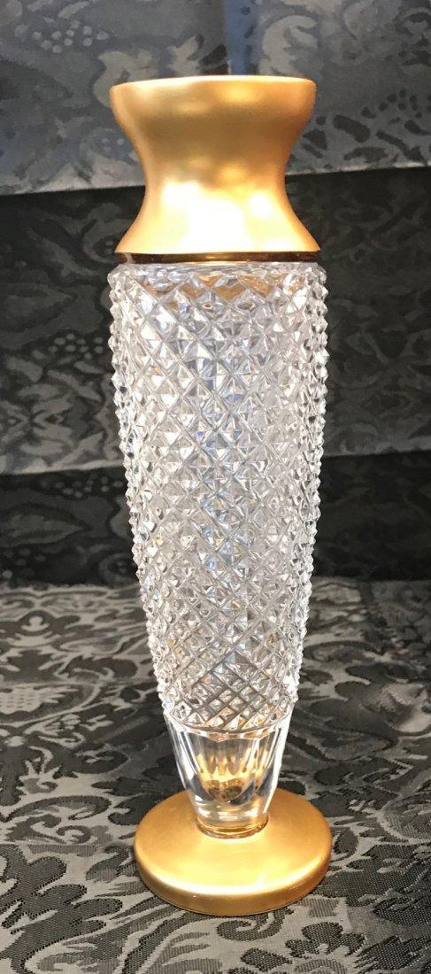 German Weinfurtner Gilt crystal candle Holder