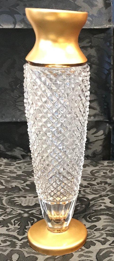 German Weinfurtner Gilt crystal candle Holder - 3
