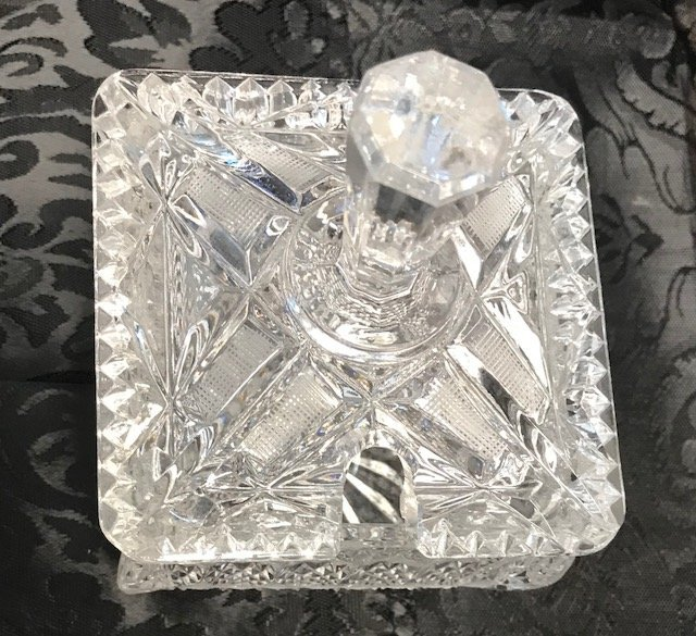 BAVARIAN GERMANY Lead crystal sugar Dish