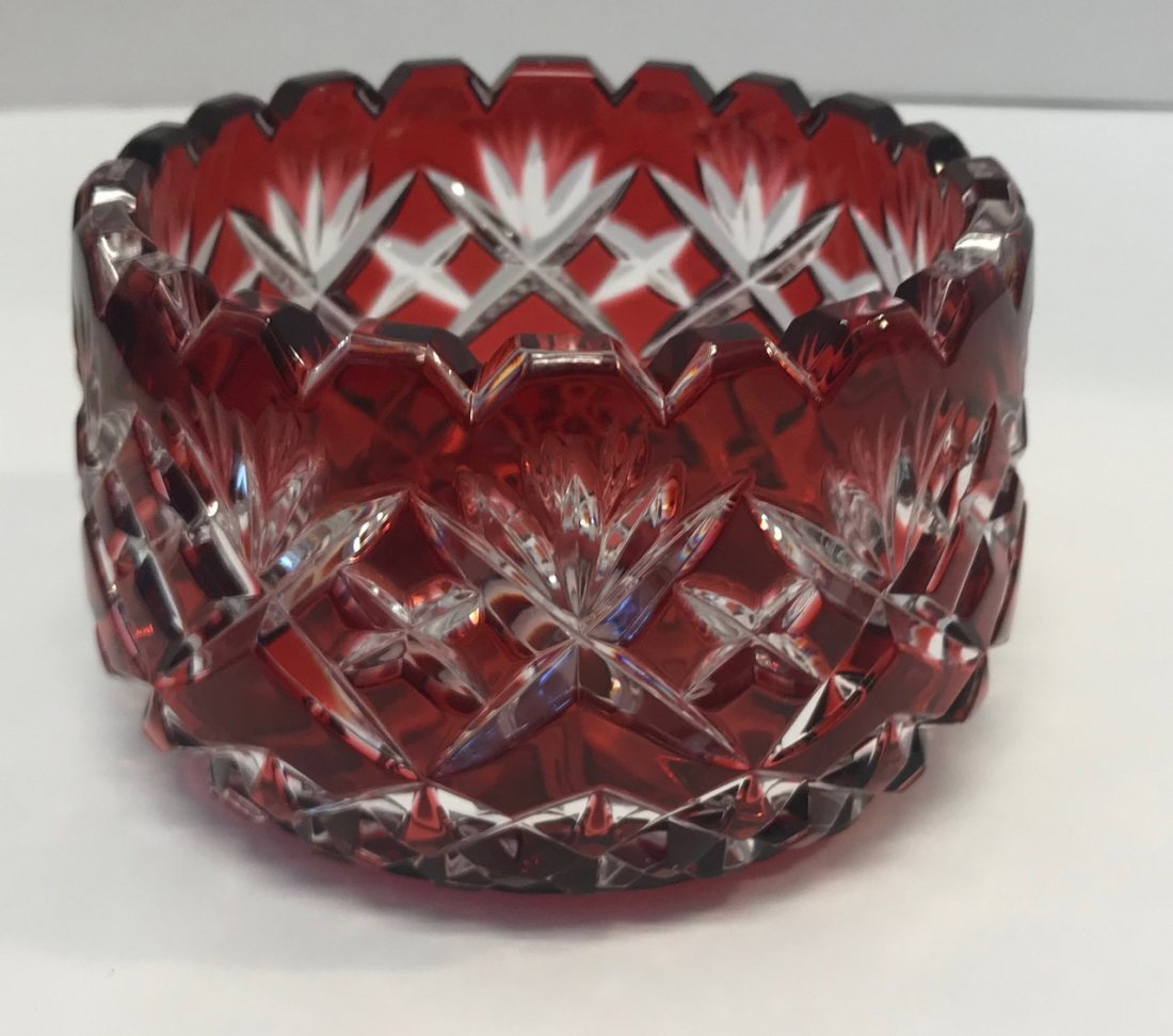 German Red Salco Bleikristall small dish