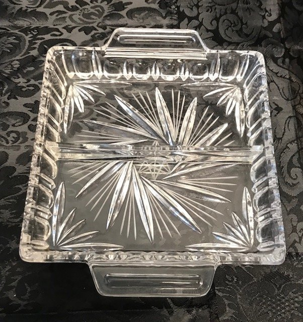 BLEIKRISTALL German Two Partition crystal Tray