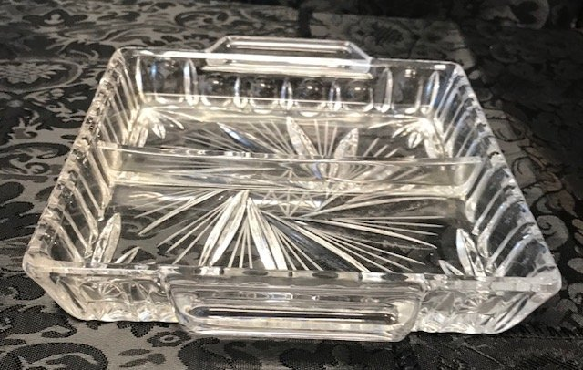 BLEIKRISTALL German Two Partition crystal Tray - 2