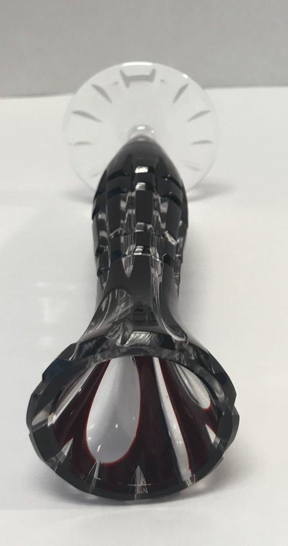 German CRANBERRY crystal Bud Vase - 3