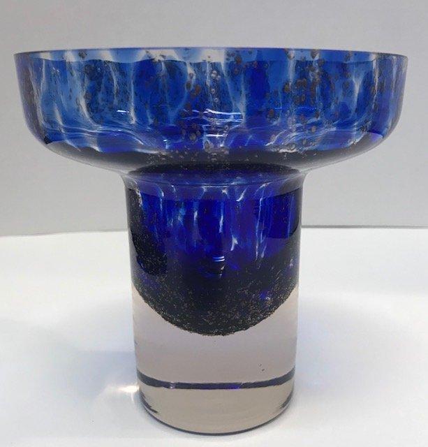 BAVARIA GERMAN  Blue & white Stem Glass Decor