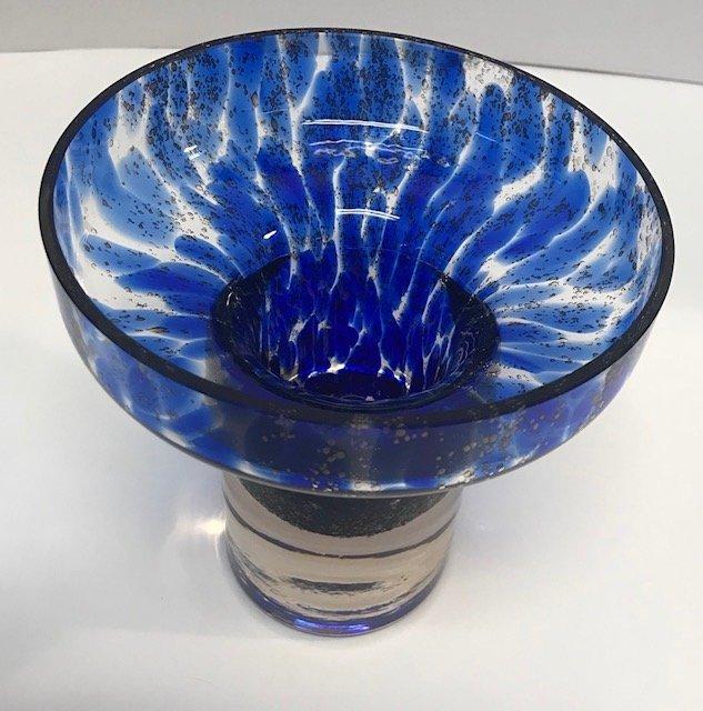 BAVARIA GERMAN  Blue & white Stem Glass Decor - 2