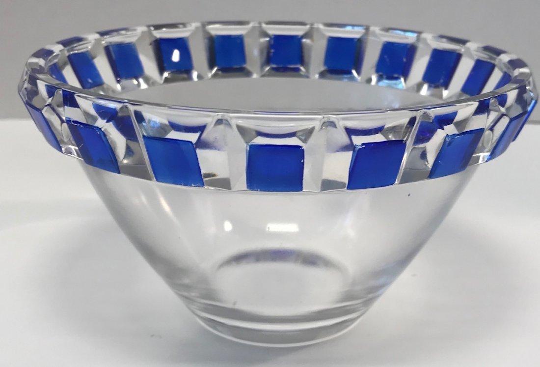 German Nachtmann Breikristall blue & white bowl - 2