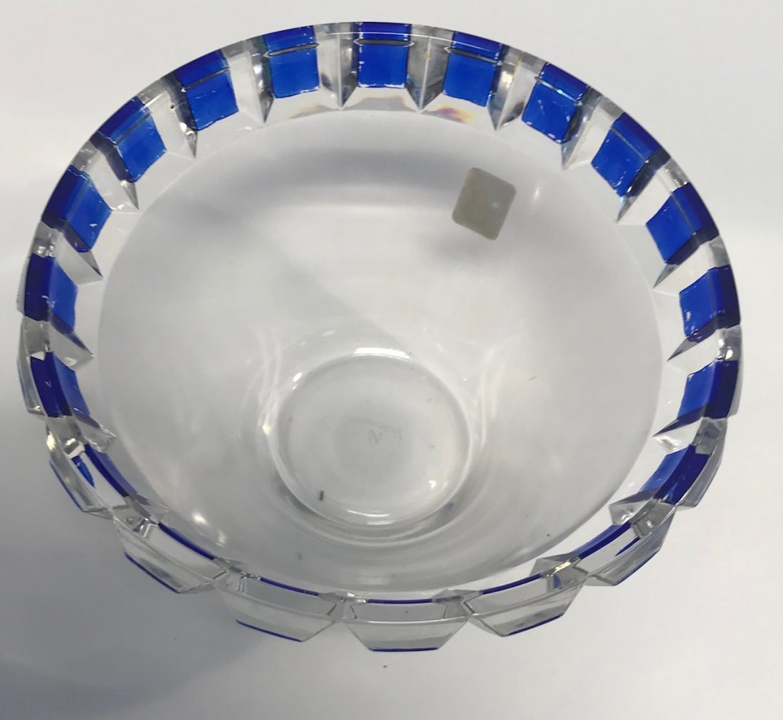 German Nachtmann Breikristall blue & white bowl - 3