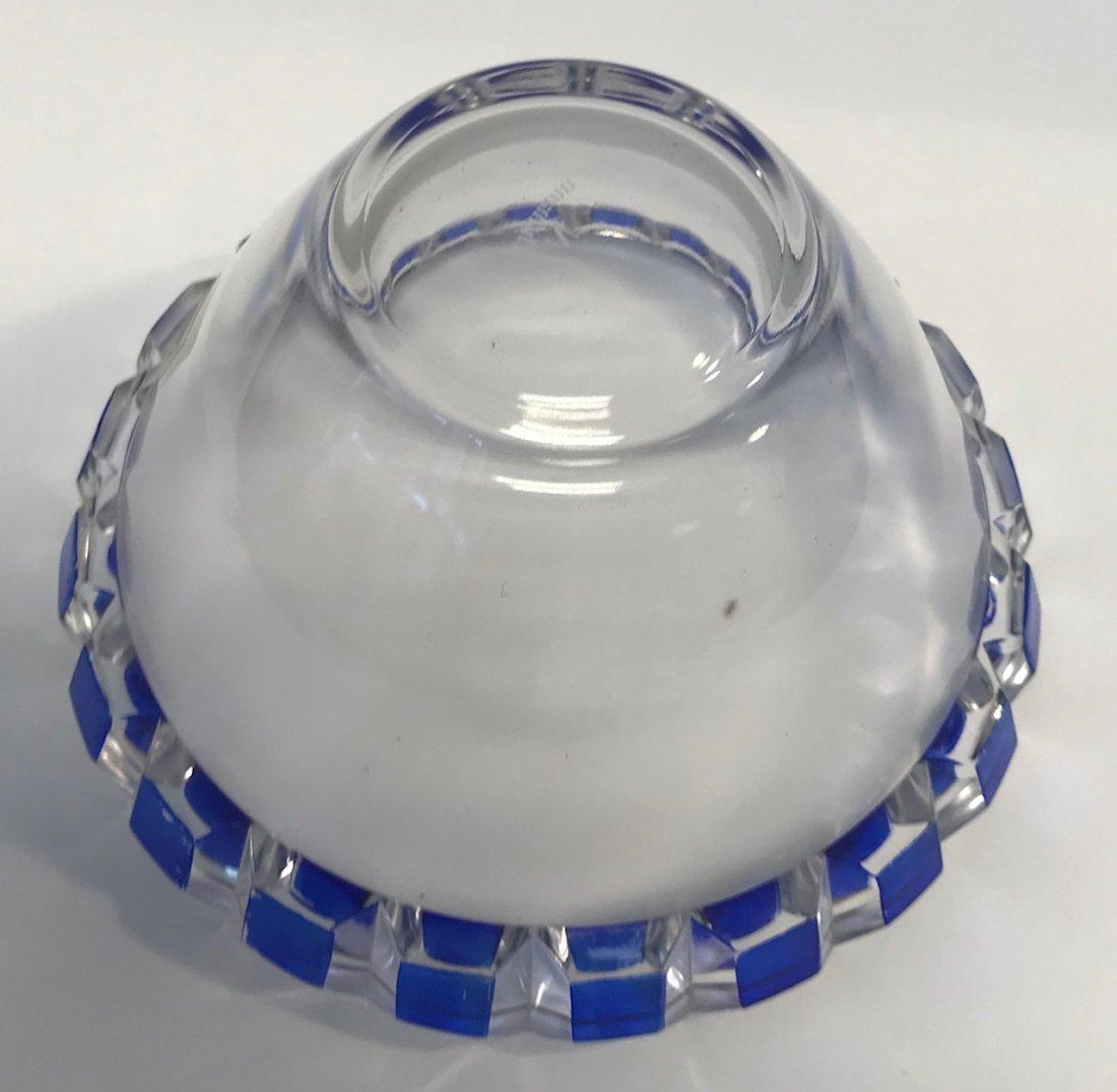 German Nachtmann Breikristall blue & white bowl - 4