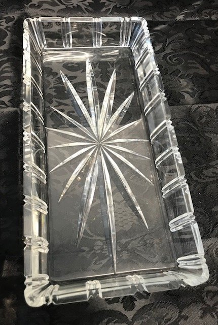 Bavaria German crystal Rectangle bevel corners  Tray