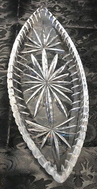 BAVARIA GERMAN  Lead crystal Oblong Tray